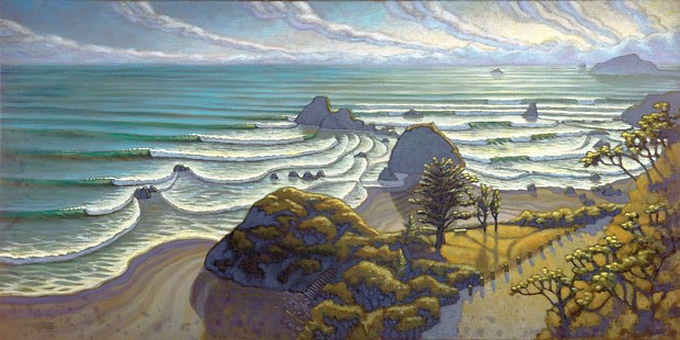 """Surf Check Daydream,"" painting by Matt Beard. - COURTESY OF MATT BEARD"
