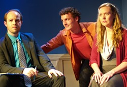 COURTESY OF NORTH COAST REPERTORY THEATRE - in a lean NCRT production, Next to Normal relies on the strength of its singers, including Alex Moore as Dr. Madden, Gino Bloomberg as Gabe and Andrea Zvaleko as Diana.