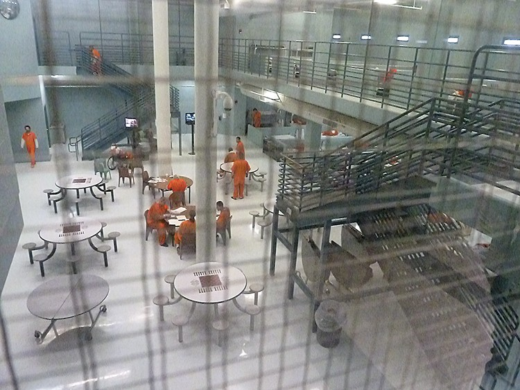 Inside the Humboldt County jail, conditions have started to resemble a prison. - PHOTO BY RYAN BURNS