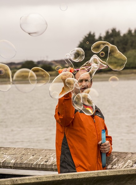It wouldn't be a Kinetic event without bubbles. - MARK LARSON