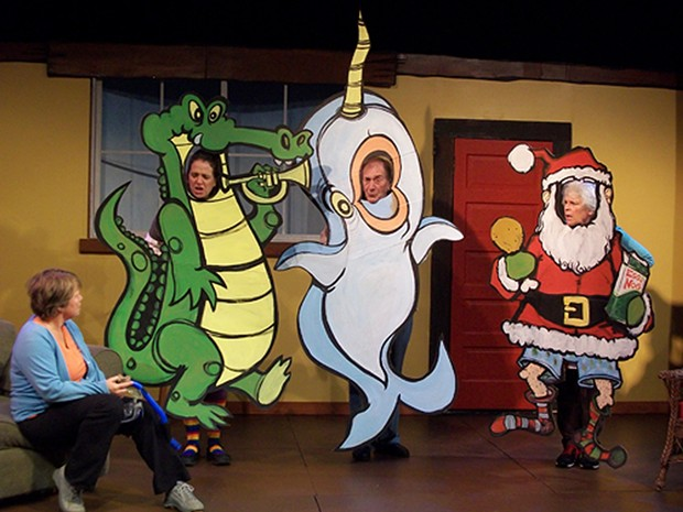 Jackie Dandeneau, Amy Tetzlaff, Bob Wells and Lynne Wells in A Playhouse Recessionary Christmas - COURTESY OF ARCATA PLAYHOUSE