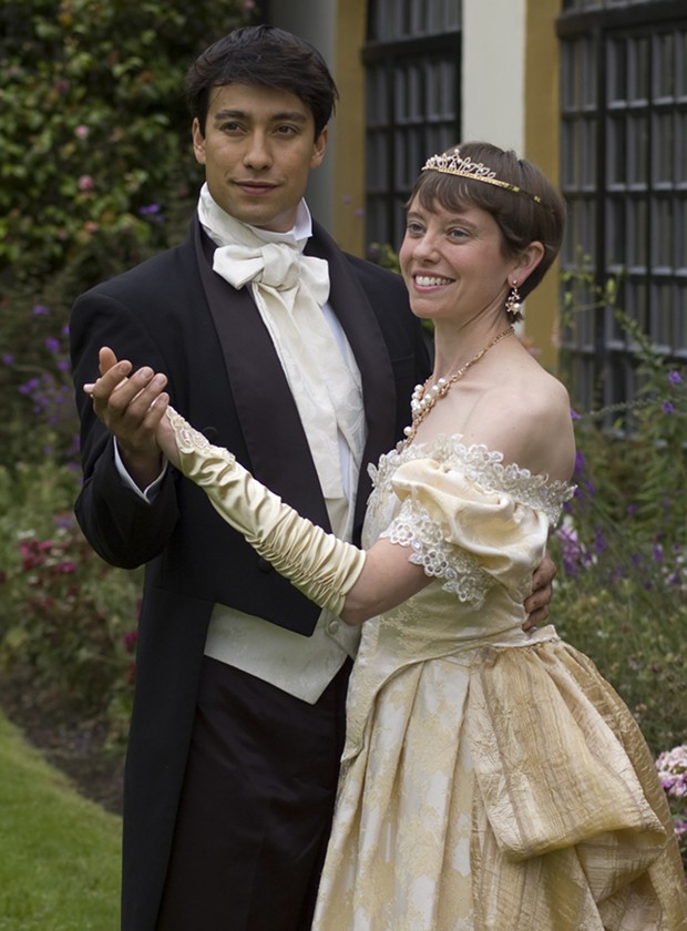 James Gadd as the Prince and Katri Pitts as Cinderella in the HLOC production - COURTESY OF HLOC