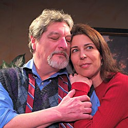 James Read as Martin, Shelley Stewart as Stevie in 'The Goat.'