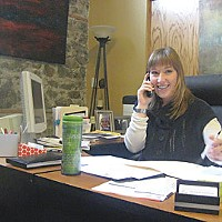 Black Friday Jennifer Koopman, executive director of Arcata Main Street, in her office