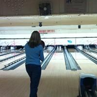 Jennifer Savage envisions a strike at Harbor Lanes.