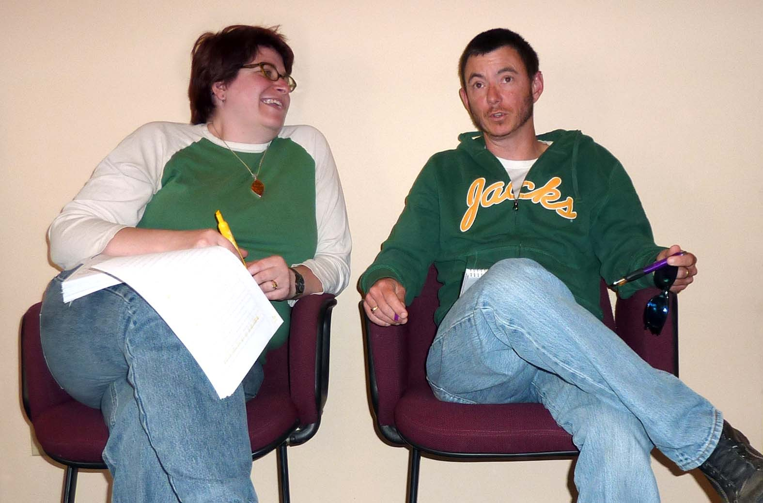 Jessica Pettitt and Dr. Loren Cannon. - PHOTO BY RYAN BURNS