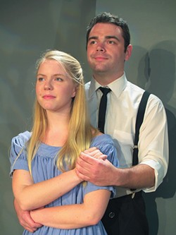 PHOTO COURTESY OF NORTH COAST REPERTORY THEATRE - Jessie Rawson and Chris Hamby as wendla bergmann and Melchior Gabor