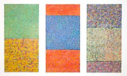 Joan Gold, 'Minerva Triptych, 2008,' acrylic and mixed media on paper, 3 x (80 in. x 40 in.)