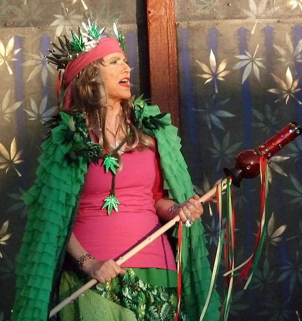 Joan Schirle as Mary Jane, Queen of the Emerald Ball - PHOTO BY BOB DORAN