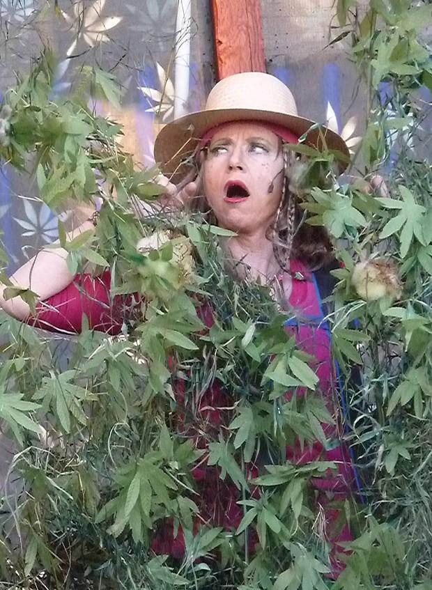 Joan Schirle as Mary Jane - PHOTO BY BOB DORAN