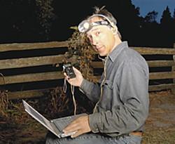 Joe Szewczak in the field. Photo by Kellie Jo Brown.