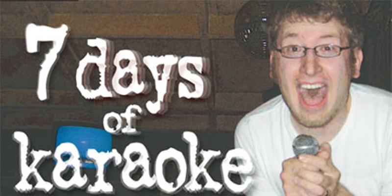7 Days of Karaoke Joel Hartse. Photo by Sarah Heng Hartse.