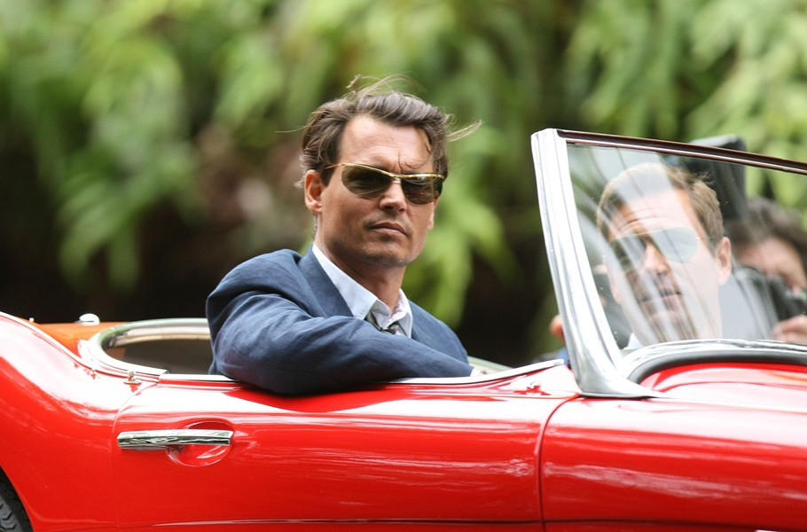 Johnny Depp and Aaron Eckhart in Rum Diary