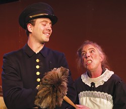 COURTESY OF NCRT - Jon Edwards and Toodie Boll as the downstairs help in death by design.