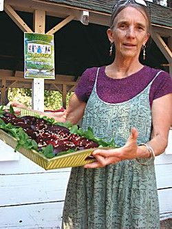 Josie Brown with her Beets Extraordinaire. Photo by Jenoa Briar-Bonpane.