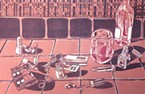 """<i><i>Journal</i></i> freelancer Sharon Ruchte's """"Date Night"""" is part of the Humboldt State University printmakers show at Garden Gate."""