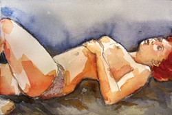 "IMAGE COURTESY OF JOYCE JONTÉ. - Joyce Jonté's watercolor ""Fragile."""