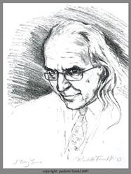 A courtroom sketch of J. Tony Serra by artist Paulette Frankl. - WIKIPEDIA.ORG