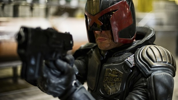 Karl Urban in Dredd 3D