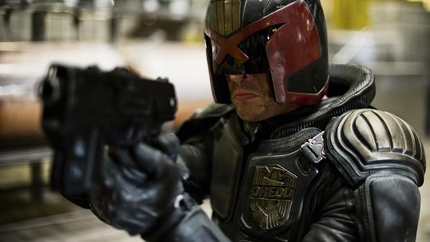 Karl Urban in Dredd 3D