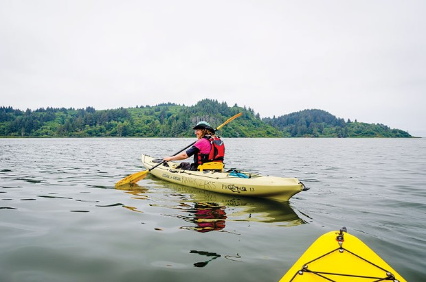 Marna Powell on the water. - PHOTO BY CHUCK JOHNSON