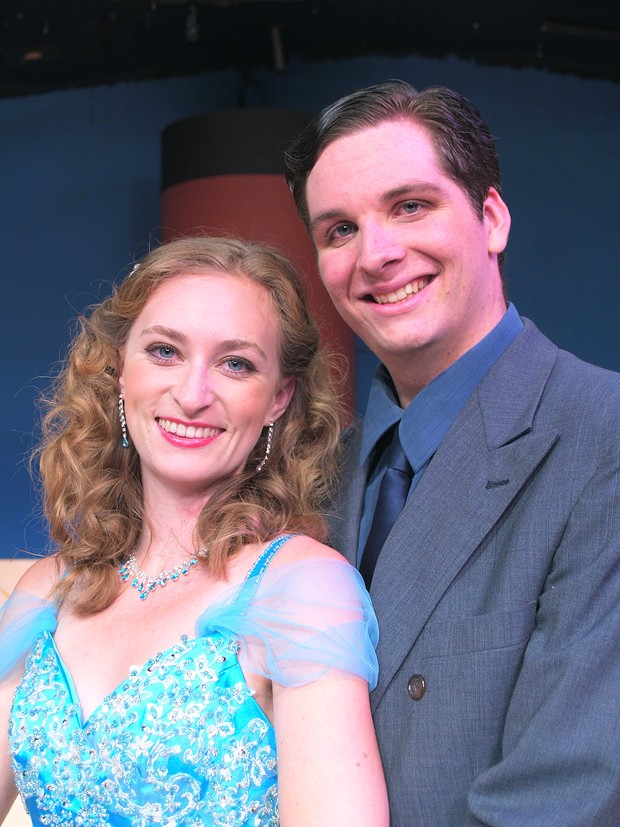 Keili Simmons Marble as Hope and Erik Standifird as Billy in Anything Goes - COURTESY OF NCRT