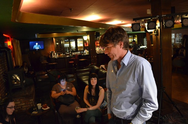 Kerrigan talks chances at his campaign party Tuesday night. - GRANT SCOTT-GOFORTH