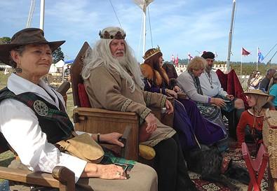 King William viewing the joust like a boss. - JENNIFER FUMIKO CAHILL