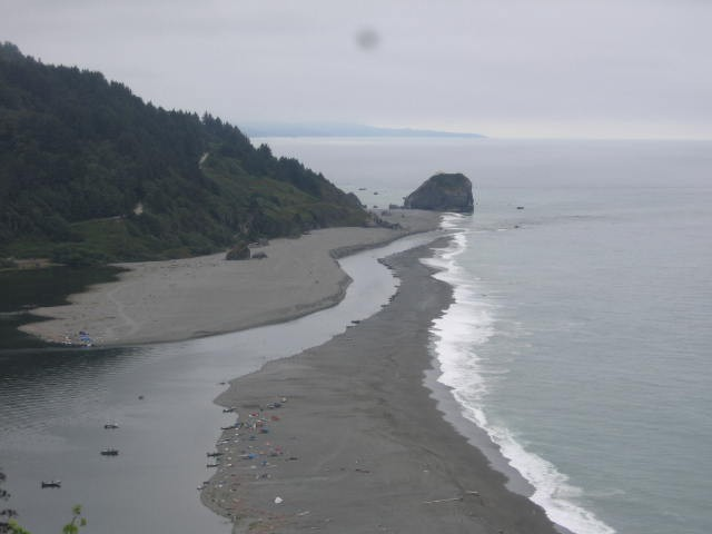 Klamath River mouth, Sept. 11, 2013, at the far south end of the spit. - PHOTO BY SARA BOROK