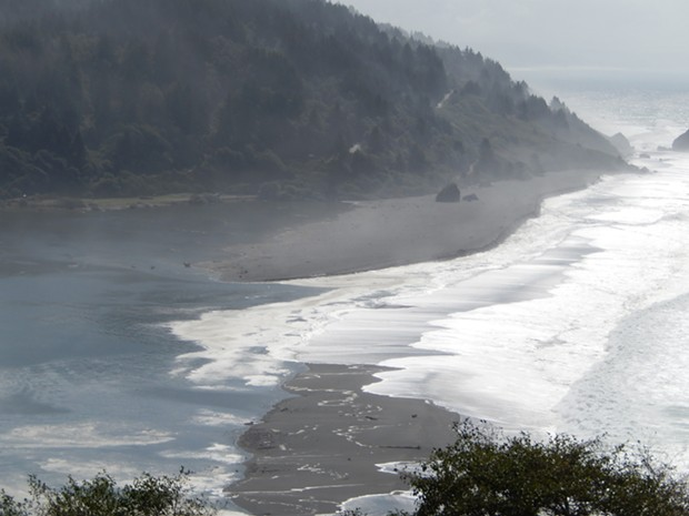 Klamath River mouth, Sept. 23, 2013, moving north. - PHOTO BY SARA BOROK
