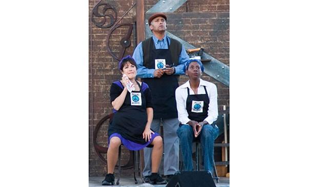 Lisa Hori-Garcia, Michael Gene Sullivan and Velina Brown - PHOTO BY JOHN KOKOSA