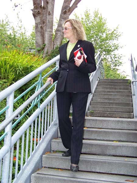 New HSU President Lisa Rossbacher. - PHOTO BY HEIDI WALTERS