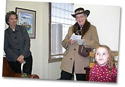 Liz Murguia and Raging Granny Jean Doran. Photo by Hank Sims.