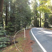 Roads and Redwoods location of proposed sliver fill at post mile 1.35 to 1.40. photo courtesy caltrans.
