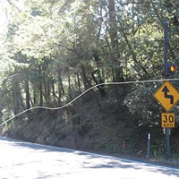 Roads and Redwoods Location of retaining wall north of Overpacks Grove Resort driveway. photo courtesy caltrans.