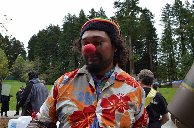 Loco Coco came all the way from Los Angeles to celebrate. It was his second 4/20 in Arcata. He wasn't disappointed in the lack of a crowd. - GRANT SCOTT-GOFORTH