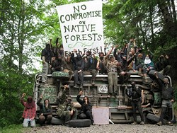 EARTH FIRST! - Logging Road Blockade