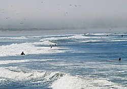 Long-time locals and newbies alike flock to catch waves at the camel rock surfing area. Photo by Jennifer Savage.