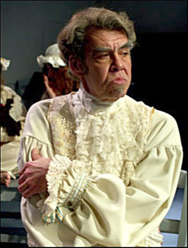 Lonnie Blankenchip as Marquis de Sade. Photo courtesy of North Coast Repertory Theater.