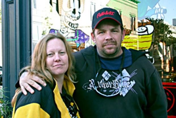 Loretta Bradford and Mark David