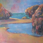 Los Bagels is host to Teresa Saluzzo's soft and richly colored paintings. (30)