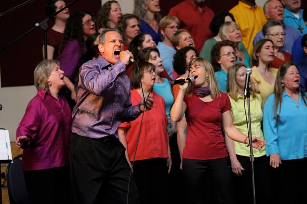 Louis Hoiland and Krista Duarte sing a duet - PHOTO BY JOY IN THE MORNING PHOTOGRAPHY