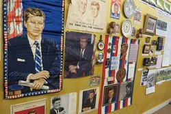 Main Street Art Gallery features a JFK-themed exhibit.