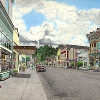 Jack Mays Artwork Main Street, Sweetness and Light and Gazebo Colored pencil drawing by Jack Mays, image courtesy of Carrie Grant