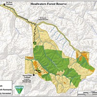 The Top 10 Stories of 2009 Map of Headwaters Forest Reserve. Courtesy U.S. Bureau of Land Management