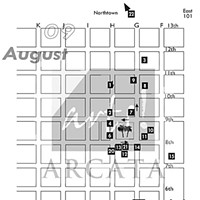 Arts! Arcata Map of venues.
