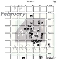 Arts! Arcata Map of venues.