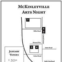 McKinleyville Art Night Map of venues.