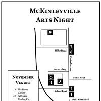 McKinleyville Arts Night Map of venues.