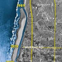 Water, Dirt and Time Map sources: U.S. Geological Survey; TerraServer-USA.com; californiacoastline.org.